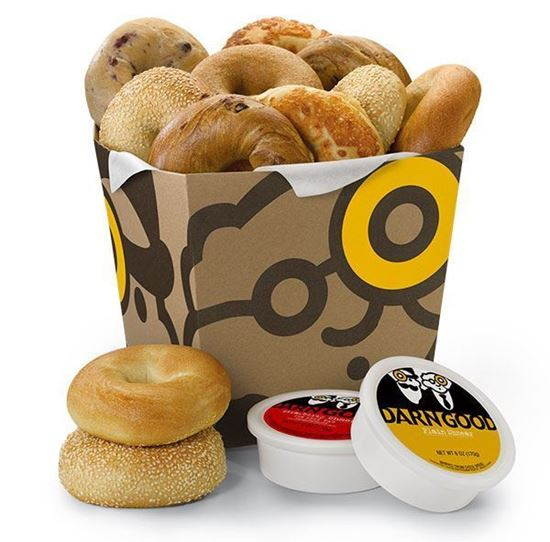 Picture of 13 Bagels and 2 Tubs of Shmear - Einstein Bros. Bagels