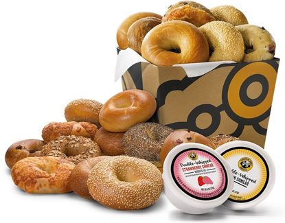 Picture of 24 Bagels and 4 Tubs Shmear Nosh Box - Einstein Bros. Bagels